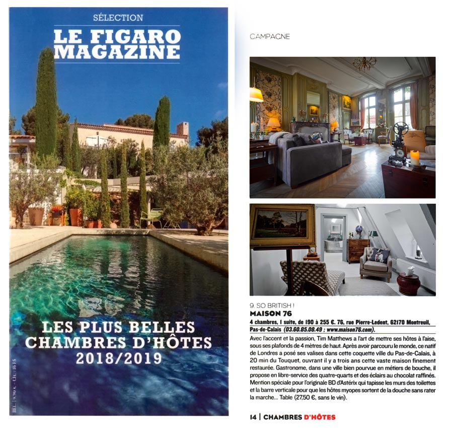 Maison 76 recommended by Le Figaro in 2019