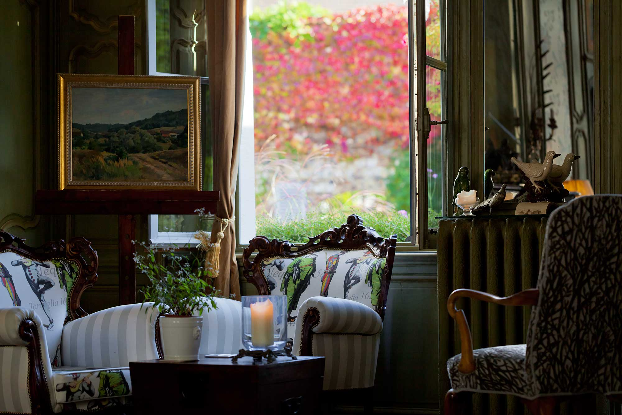 The Drawing Room at Maison76, overlooking the garden